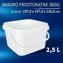 Square Bucket 2,5l