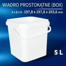 Square Bucket 5l