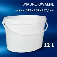 Oval Bucket 12l