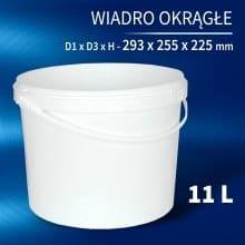 Round Bucket 11l