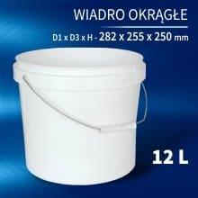 Round Bucket 12l
