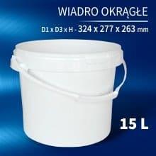 Round Bucket 15l