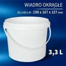 Round Bucket 3l