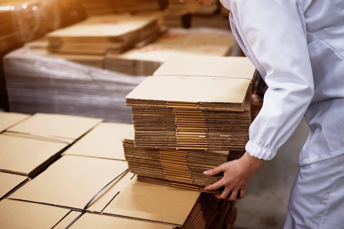 przechowywanie opakowań kartonowych